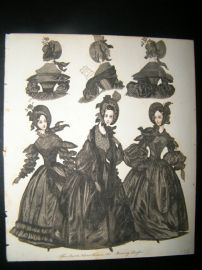 World of Fashion 1837 Hand Col Fashion Print 16